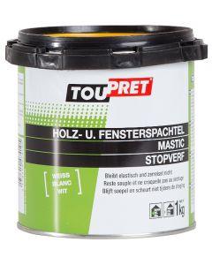TOUPRET Holz- Fensterspachtel 1 kg Dose à 1 kg Aussen/Innen Weiss