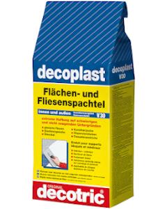 DECOTRIC decoplast V30 Flächen- und Fliesenspachtel Sack à 5 kg Innen/Aussen