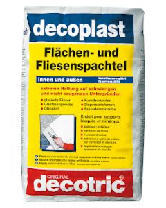 DECOTRIC decoplast V30 Flächen- und Fliesenspachtel Sack à 15 kg Innen/Aussen