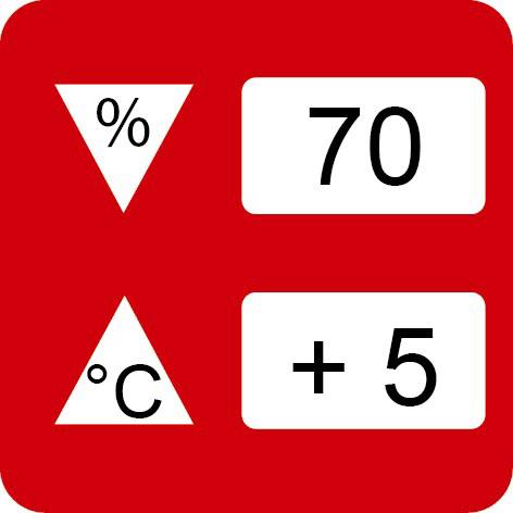 Nicht unter +5°C/über 70% rLf. verarbeiten
